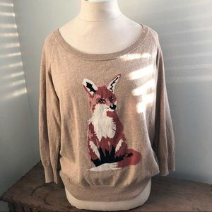 Sweaters - Fox Cashmere Blend Sweater Size Large